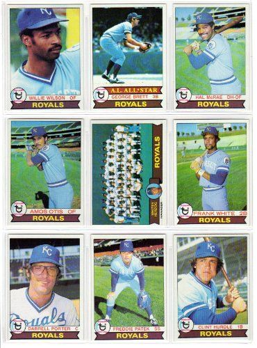 Kansas City Royals 1979 Topps Baseball Team Set 27 Card Set Willie Wilson Rookie George Brett Hal McRae Amos Otis Frank White Darrell Porter Freddie Patek Clint Hurdle Doug Bird Steve Braun Al Cowens Tom Poquette *** Check out this great product.