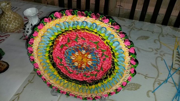 Quilled  plate