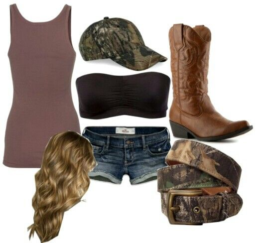 Country Style # Camo # Summer Clothes # Cowboy Boots ...