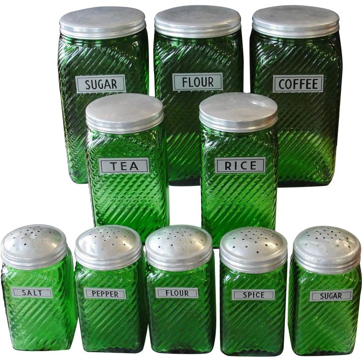 Green Kitchen Canisters: Best 25+ Vintage Canisters Ideas On Pinterest