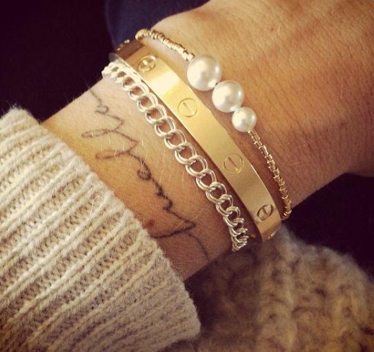 Pin By Erika Diaz On Fashion Jewels Tattoos Tattoo Bracelet