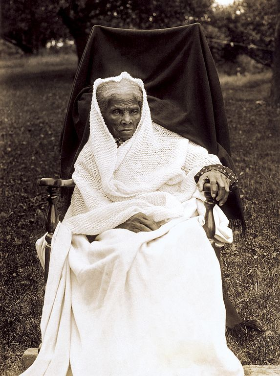 Harriet Tubman, slave, abolitionist, spy. Born into slavery, she was beaten, 'hired out' and suffered seizures from being hit by a heavy weight. After escaping, she later made ~19 trips to rescue a total of over 300 slaves, sometimes using the Underground Railroad. Called 'Black Moses', she carried a gun and threatened to shoot any slave who would turn back. She was a Union spy during the Civil War and struggled for women's suffrage.