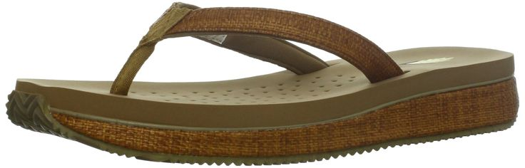Volatile Women's Coconut Wedge Sandal,Tan,6 B US. Padded ethylene vinyl acetate sock.