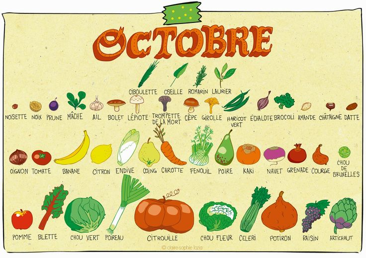 calendrier des fruits et l gumes de saison pour octobre pissenlit alimentation pinterest. Black Bedroom Furniture Sets. Home Design Ideas