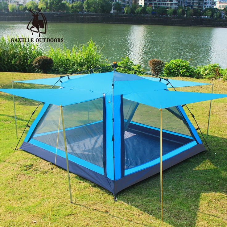3-4 Person Auto Pop-up Camping Tent Outdoor Weekend Picnic Beach Waterproof