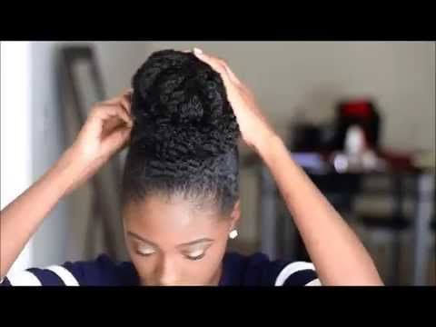 Five 5 Minute Faux Bun Styles | protective styles for short to long natural hair - YouTube