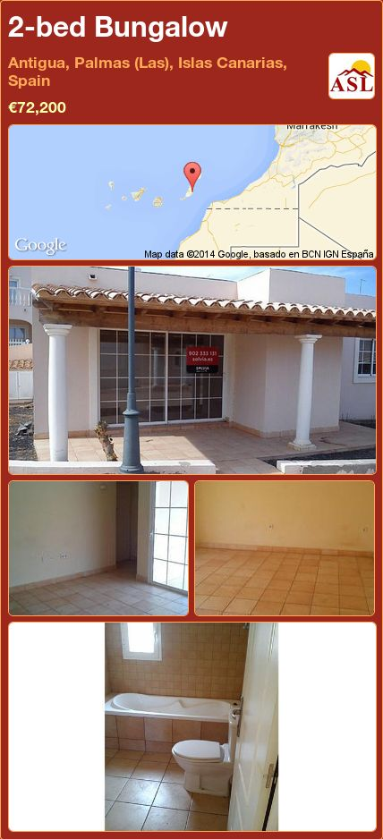 2-bed Bungalow in Antigua, Palmas (Las), Islas Canarias, Spain ►€72,200 #PropertyForSaleInSpain