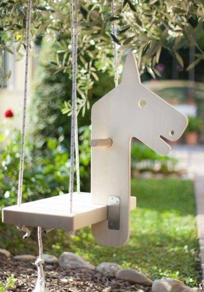 Kinder Schaukel Pferd Form Gartengestaltung Gartengestaltungideen Gartengestaltungdeko In 2020 Childrens Swings Diy Garden Decor Hydrangea Care
