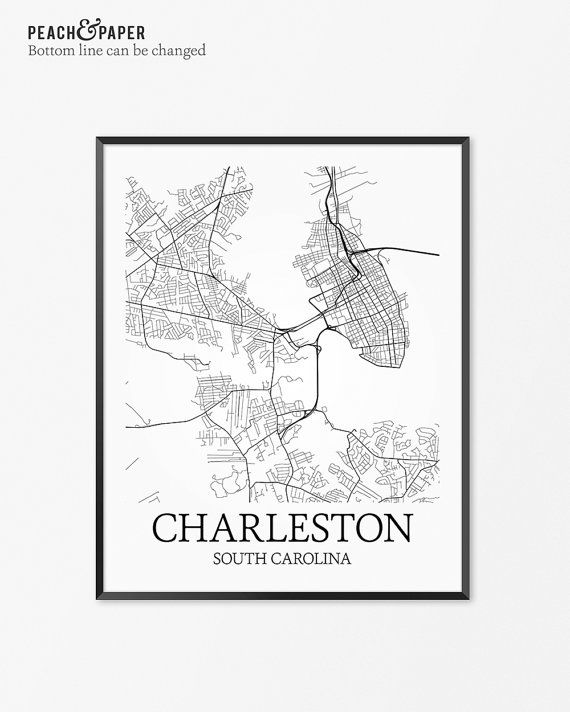 The 25 best charleston map ideas on pinterest charleston sc map charleston map art print charleston poster map of charleston malvernweather Image collections