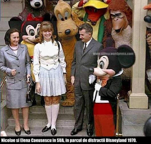 Nicolae Ceausescu in Disneyland