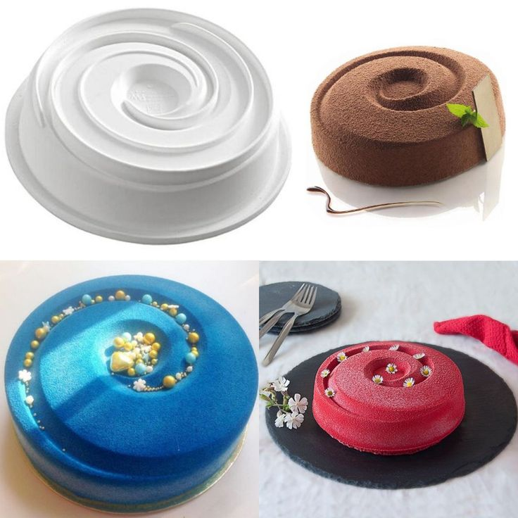 Non Stick Silicone Round Vortex Spiral Cake Fondant Mold Chocolate Bread Mould Baking Tray Pan Home Baking Decorating Tools on Aliexpress.com | Alibaba Group