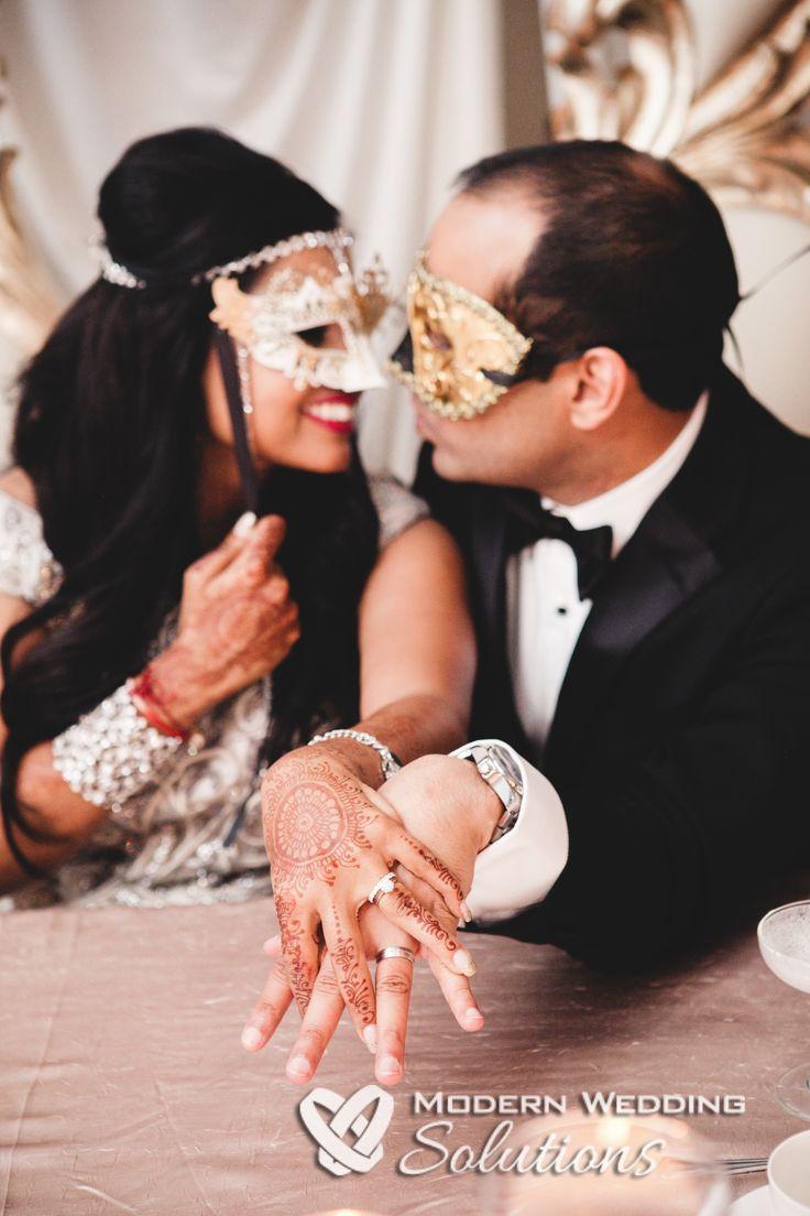 Awesome reception shot! Loving these masks for a Cirque du Soleil themed wedding! #wedding
