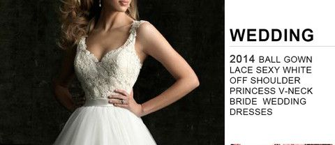 Women V-neck Bride Wedding Dresses Princess Sleeveless Ball gown Lace Sexy White off shoulder (scheduled via http://www.tailwindapp.com?utm_source=pinterest&utm_medium=twpin&utm_content=post12414802&utm_campaign=scheduler_attribution)