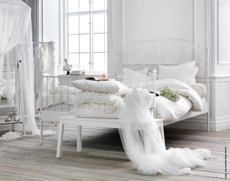 leirvik bed frame home design ideas pinterest beautiful guest rooms and metals. Black Bedroom Furniture Sets. Home Design Ideas