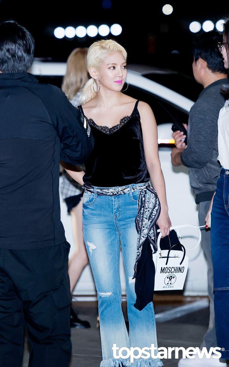 [HD포토] 소녀시대(SNSD) 효연 시크한 금발머리 #topstarnews