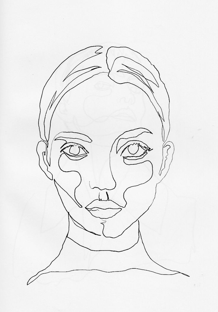 Continuous Line Drawing Of Face : The best line drawing ideas on pinterest art