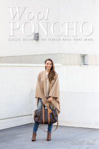 Wool poncho by Marja Kurki on strictly stylöe blog. #ponchos #marjakurki
