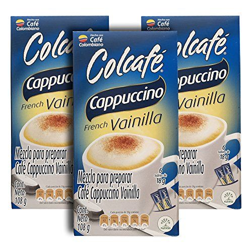 Colcafe French Vanilla Cappuccino Colombian Coffee Instant Mix, 6-Count Envelopes (Pack of 3). >>> To view further for this article, visit the image link.