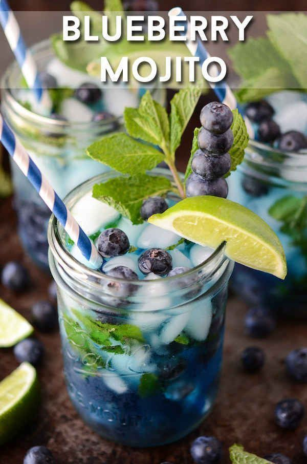 Blueberry Mojito   27 Glorious Blueberry Recipes For Summer