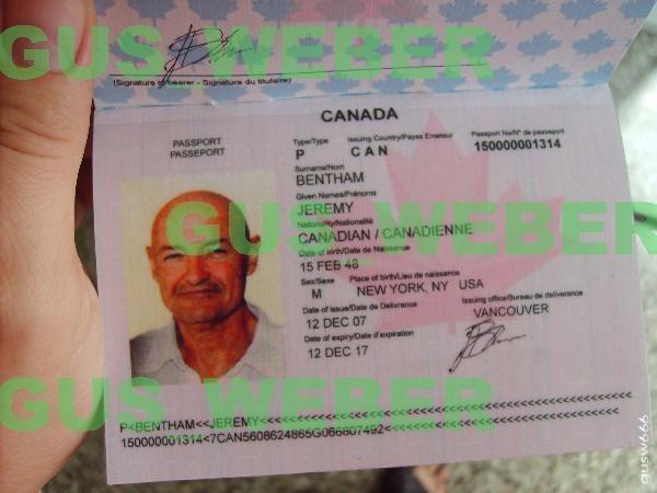 John Lockes Passport as Jeremy Bentham