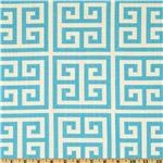 UQ-049 Premier Prints Towers Dossett Mandarin Turquoise for Kitchen Curtains