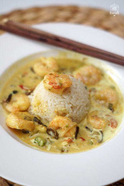 Riso cocco curry e gamberetti | da Maria Paola R