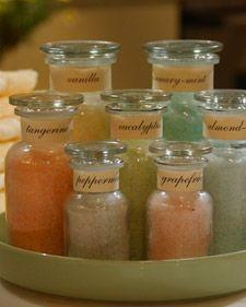 Homemade Bath Salts   Martha Stewart