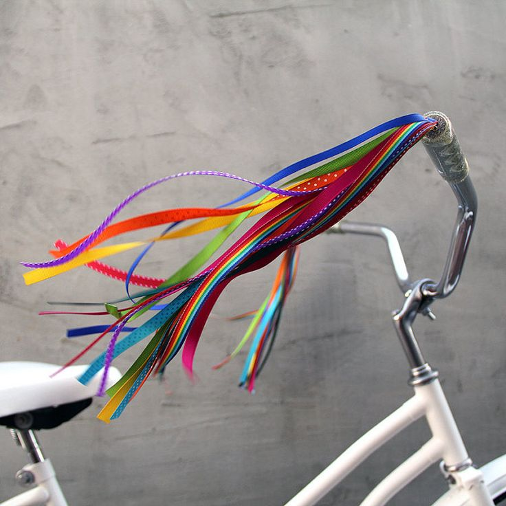Bicycle Streamers - Streamers for your Bike, Trike, or Scooter Handlebars - Retro, Cool & Handmade - Bright Rainbow Bike Streamers