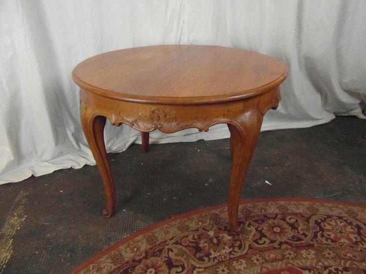 Tisch Antik Eiche Rund Chippendale Beistelltisch Teetisch Spieltisch Couchtisch