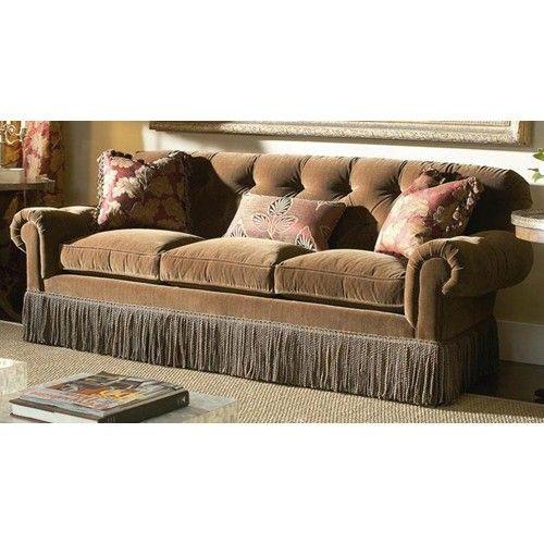 Chaise Lounge Sofa Oscar de la Renta Home Upholstered Sofa with Fringe by Century Baer us Furniture Sofa