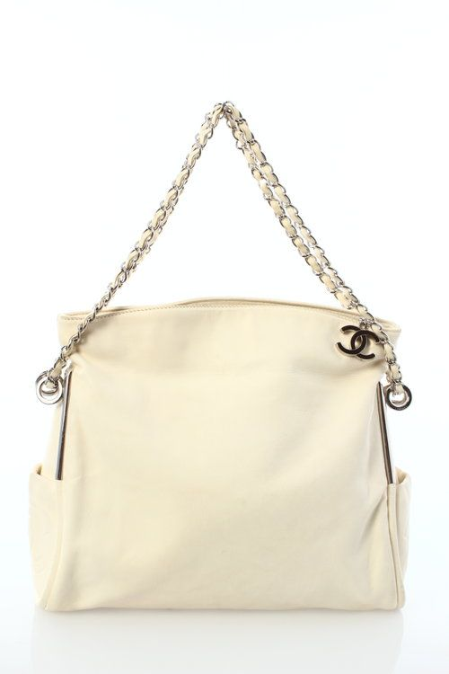 Chanel Cream  Lambskin Leather Ultimate Soft Bag