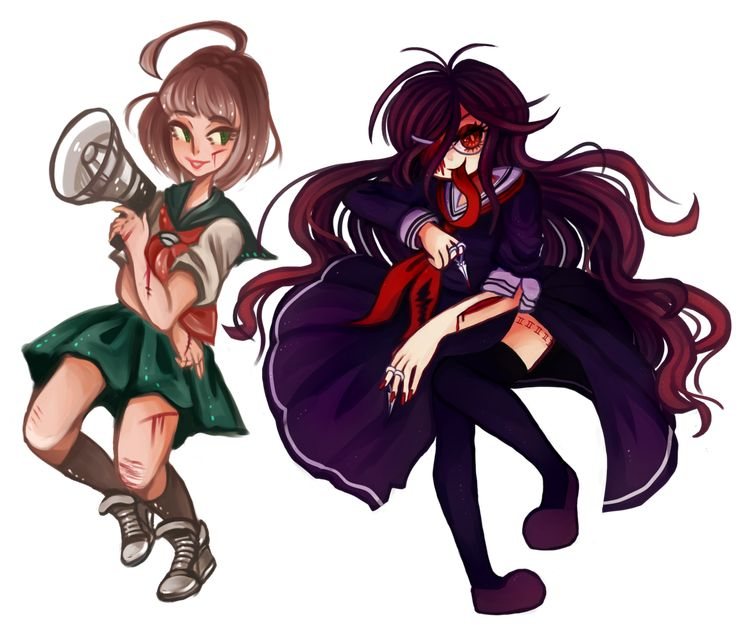 Transparent Render Komaru Naegi and Genocider Syo by