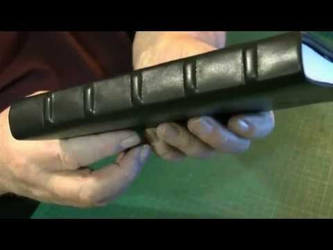 Bookbinding with leather Three Quarter and Fully bound books - YouTube