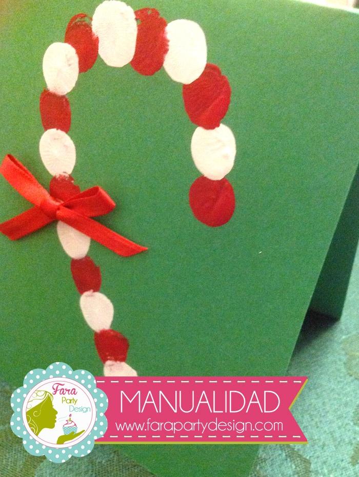 Tutorial de Tarjeta sencilla de Navidad por Fara    Party Design #easy #craft #christmas #card #tarjeta #navidad #fácil