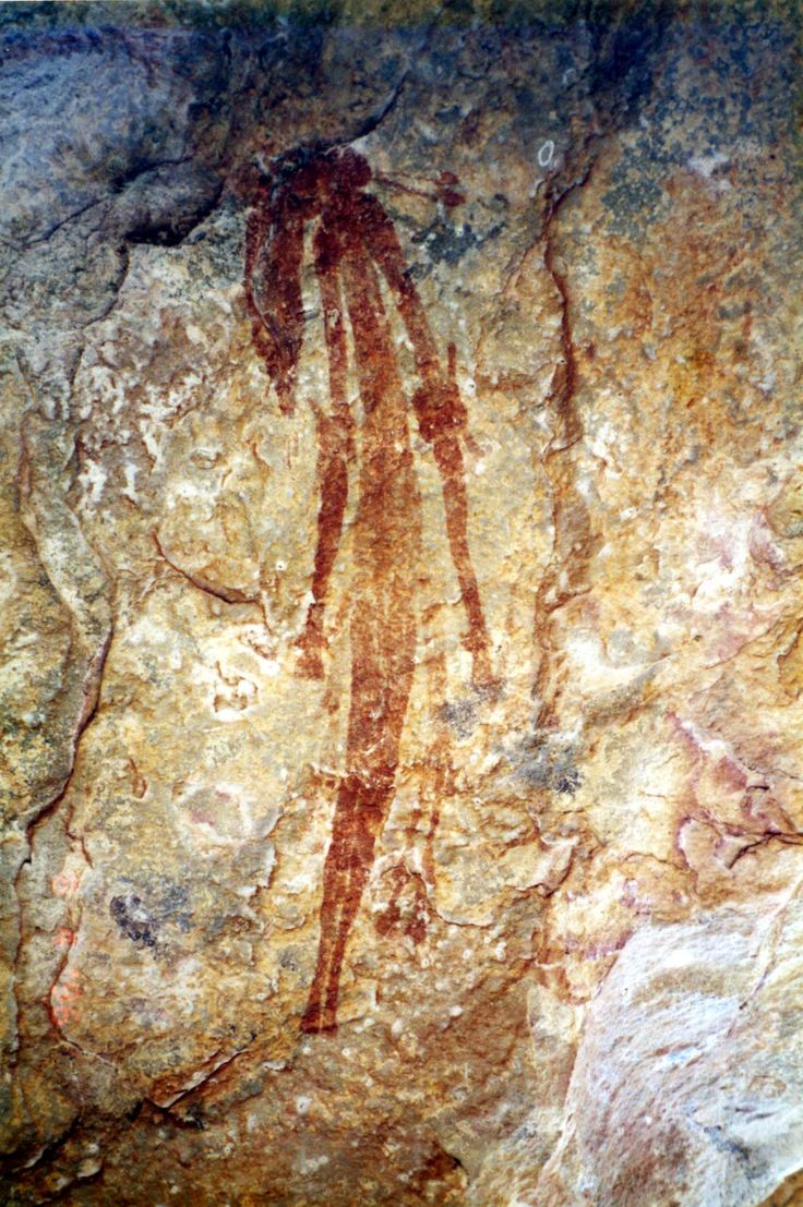 Aboriginal Art of the Kimberleys, West Australia: Bradshaw Paintings, named after the Joseph Bradshaw who was the first European to discover them in 1891. Scientists believe they are 17,000 years old.