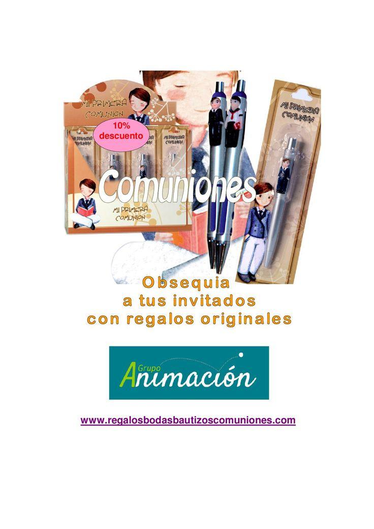 Bolígrafos para regalar en la Primera Comunión. Tienda de regalos en España