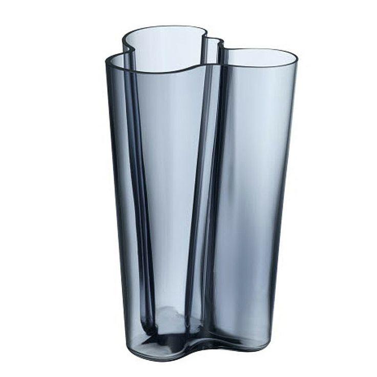"""The Finlandia version of the classic Aalto vase was deigned to accommodate more contemporary longer stems. Alvar Aalto - Aalto Finlandia 251 in new season colour """"Rain"""""""