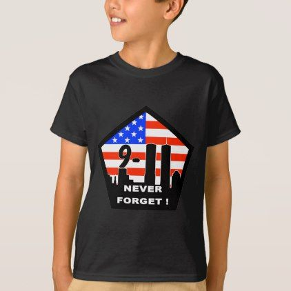 #911 never forget T-Shirt - #cool #kids #shirts #child #children #toddler #toddlers #kidsfashion