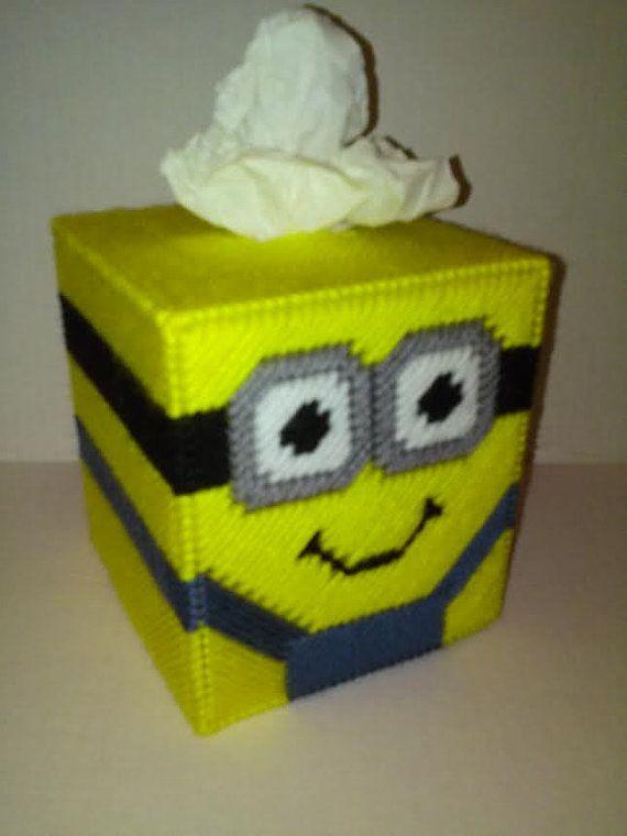 Minion Tissue Box Cover Boutique Box Cover by MaidenLongIsland