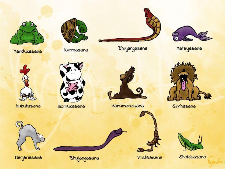 Yoga: Alguns Asanas com nomes de animais                                                                                                                                                                                 Mais