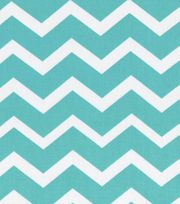Keepsake Calico Fabric-Turquois & White Chevron, , hi-res