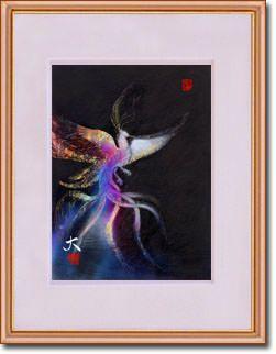 販売絵画 新月紫紺大作 タイトル「天子の翼」