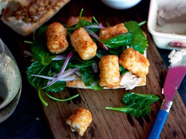 Paté and Tater Tots Sandwich