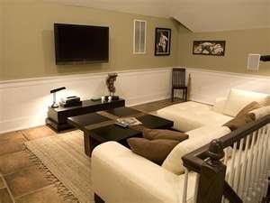 Basement Idea. Probably Wouldnu0027t Do A White Sofa, But I Do Really