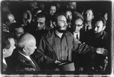 Treffen Nikita Chruschtschow und Fidel Castro in New York Ph: Lisl Steiner.