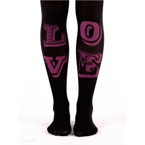 #LOVE on #black tights #Virivee