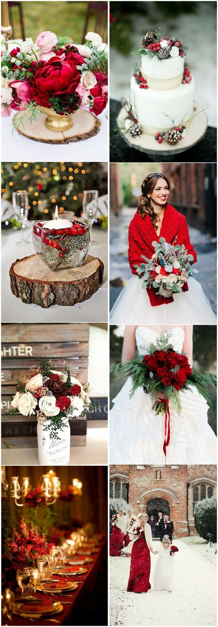 Hochzeitsfarben »24 auffällige rote Hochzeitsideen für den Winter …  – Christmas Wedding