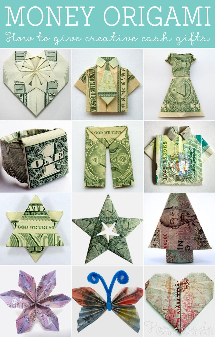 Money Origami Tutorials How To Give Creative Cash Gifts At Weddings Birthdays And The