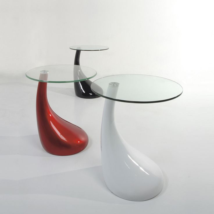 Italian contemporary design round coffee table in white resin and tran at My Italian Living Ltd
