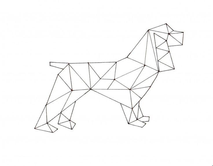 Geometric Spaniel Printable Art